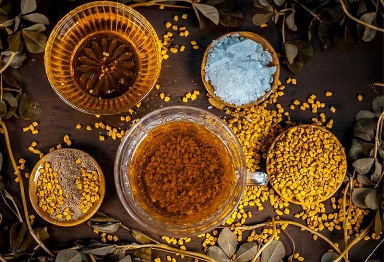 وصفات نفخ الخدود الحلبة والعسل