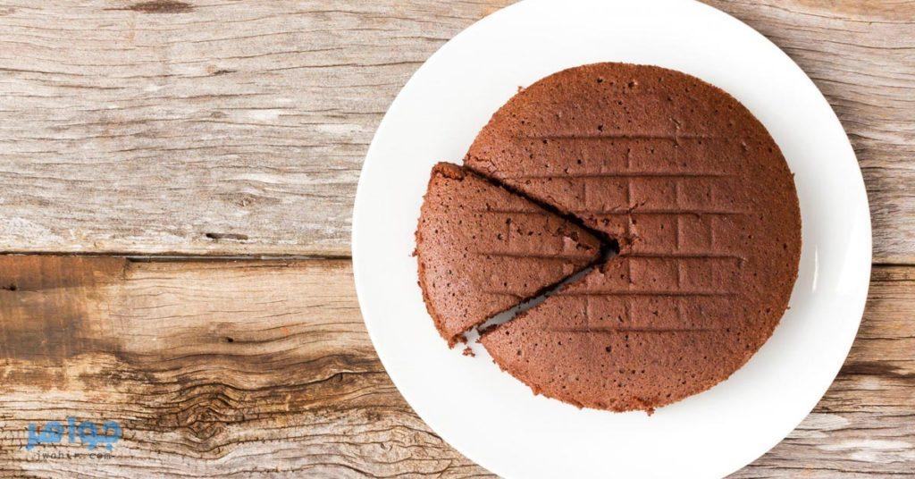 الكيكة بالشوكولاتة