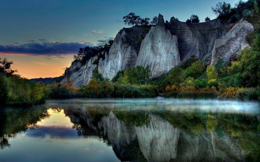 اجمل المناظر طبيعية جبل وبحر
