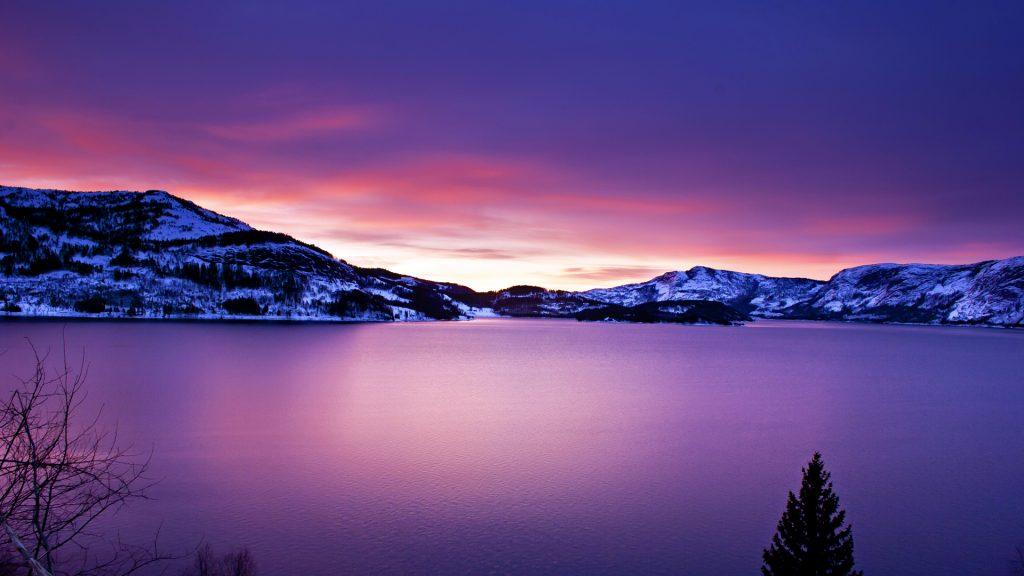 Beautiful Frozen Lake