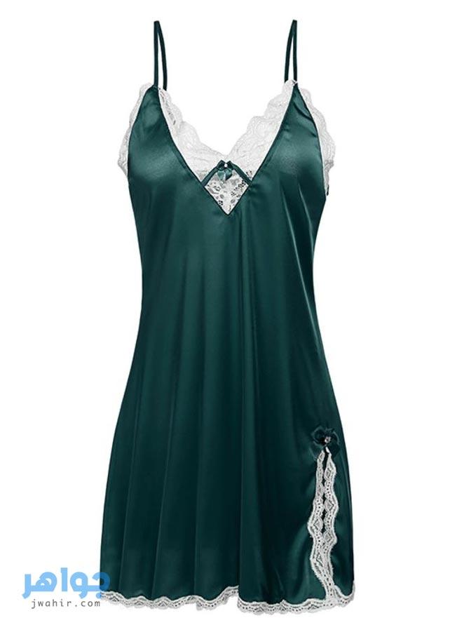 قمصان نوم دلع أخضر 2021