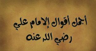 أقوال الإمام على