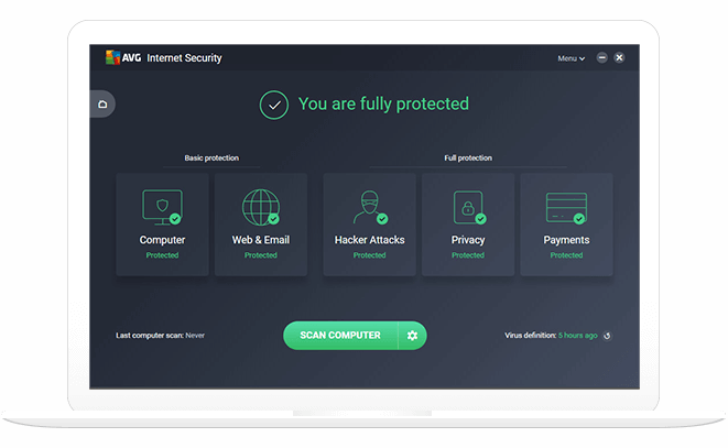 برنامج AVG Internet Security