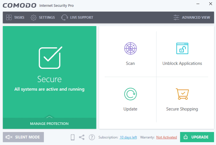 برنامج Comodo Internet Security