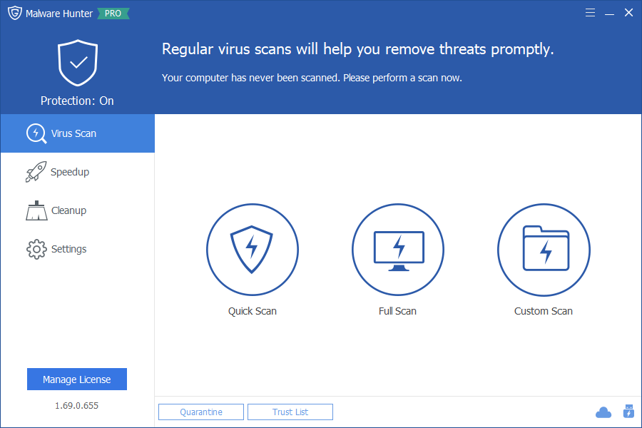 برنامج Malware Hunter