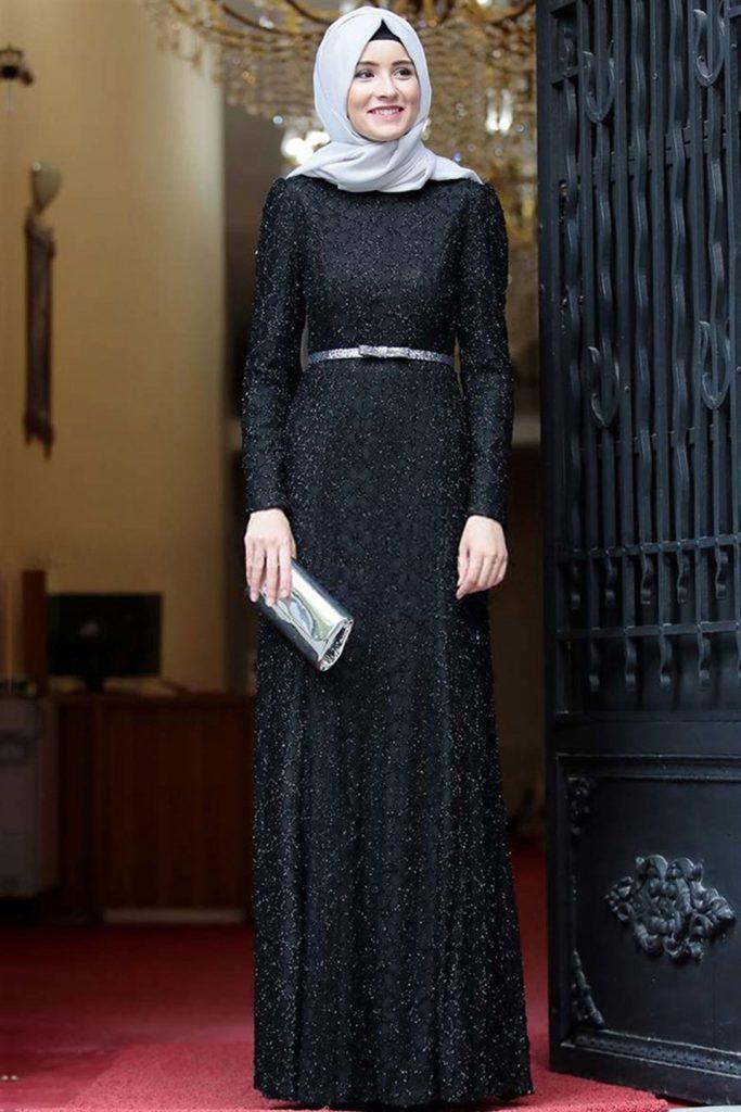 فستان تركي محجبات للسهره